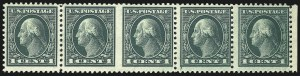 Sale Number 1040, Lot Number 1884, 1917-18 Issues (Scott 498-524)1c Green, Horizontal Pair, Imperforate Between (498b), 1c Green, Horizontal Pair, Imperforate Between (498b)