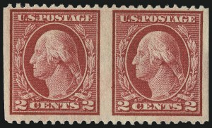 Sale Number 1040, Lot Number 1885, 1917-18 Issues (Scott 498-524)2c Rose, Ty. I, Horizontal Pair, Imperforate Vertically (499b), 2c Rose, Ty. I, Horizontal Pair, Imperforate Vertically (499b)