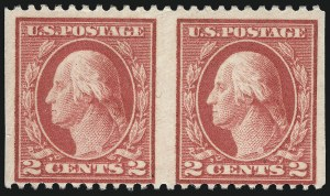 Sale Number 1040, Lot Number 1886, 1917-18 Issues (Scott 498-524)2c Rose, Ty. I, Horizontal Pair, Imperforate Vertically (499b), 2c Rose, Ty. I, Horizontal Pair, Imperforate Vertically (499b)