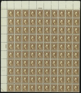 Sale Number 1040, Lot Number 1893, 1917-18 Issues (Scott 498-524)4c Brown (503), 4c Brown (503)