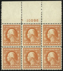 Sale Number 1040, Lot Number 1901, 1917-18 Issues (Scott 498-524)6c Red Orange, 9c Salmon Red (506, 509), 6c Red Orange, 9c Salmon Red (506, 509)