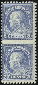 Sale Number 1040, Lot Number 1905, 1917-18 Issues (Scott 498-524)20c Light Ultramarine, Vertical Pair, Imperforate Between (515b), 20c Light Ultramarine, Vertical Pair, Imperforate Between (515b)