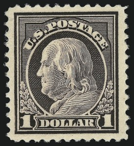 Sale Number 1040, Lot Number 1909, 1917-18 Issues (Scott 498-524)$1.00 Violet Brown (518), $1.00 Violet Brown (518)