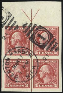 Sale Number 1040, Lot Number 1933, 1918-22 Issues (Scott 525-547a)2c Carmine, Ty. V, Imperforate (533), 2c Carmine, Ty. V, Imperforate (533)