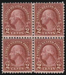 Sale Number 1040, Lot Number 2001, 1923-33 Issues (Scott 577-734a)2c Carmine, Rotary, Perf 11 (595), 2c Carmine, Rotary, Perf 11 (595)