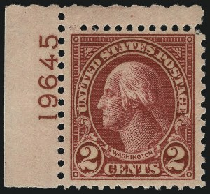 Sale Number 1040, Lot Number 2015, 1923-33 Issues (Scott 577-734a)2c Carmine, Ty. II (634A), 2c Carmine, Ty. II (634A)