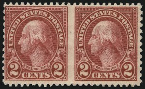 Sale Number 1040, Lot Number 2018, 1923-33 Issues (Scott 577-734a)2c Carmine, Ty. I, Horizontal Pair, Imperforate Between (634c), 2c Carmine, Ty. I, Horizontal Pair, Imperforate Between (634c)