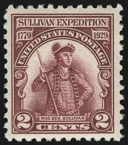 Sale Number 1040, Lot Number 2021, 1923-33 Issues (Scott 577-734a)2c Lake, Sullivan Expedition (657a), 2c Lake, Sullivan Expedition (657a)