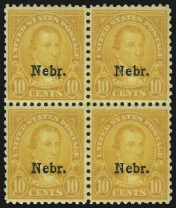 Sale Number 1040, Lot Number 2023, 1923-33 Issues (Scott 577-734a)1c-10c Kans., Nebr. Overprints (658-679), 1c-10c Kans., Nebr. Overprints (658-679)