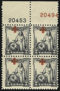 Sale Number 1040, Lot Number 2032, 1923-33 Issues (Scott 577-734a)2c Red Cross (702), 2c Red Cross (702)