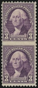Sale Number 1040, Lot Number 2034, 1923-33 Issues (Scott 577-734a)3c Washington, Vertical Pair, Imperforate Between (720c), 3c Washington, Vertical Pair, Imperforate Between (720c)