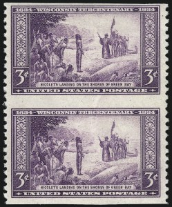 Sale Number 1040, Lot Number 2035, 1923-33 Issues (Scott 577-734a)3c Nicolet's Landing, Imperforate Horizontally (734a), 3c Nicolet's Landing, Imperforate Horizontally (734a)