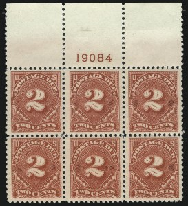 Sale Number 1040, Lot Number 2139, Postage Due (Scott J2-J96a)2c Rose Red (J62a), 2c Rose Red (J62a)