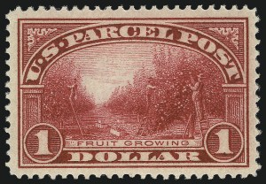 Sale Number 1040, Lot Number 2180, Newspapers and Periodicals, Parcel Post (Scott PR, Q, JQ)$1.00 Parcel Post (Q12), $1.00 Parcel Post (Q12)