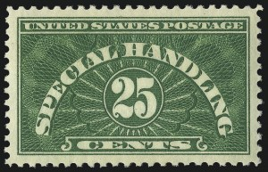 Sale Number 1040, Lot Number 2185, Newspapers and Periodicals, Parcel Post (Scott PR, Q, JQ)25c Special Handling (QE4), 25c Special Handling (QE4)