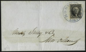 Sale Number 1041, Lot Number 101, On-Cover Domestic Uses by State: Alabama thru Delaware10c Black (2), 10c Black (2)