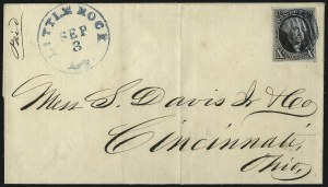 Sale Number 1041, Lot Number 103, On-Cover Domestic Uses by State: Alabama thru Delaware10c Black (2), 10c Black (2)