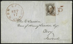 Sale Number 1041, Lot Number 108, On-Cover Domestic Uses by State: Alabama thru Delaware5c Grayish Brown (1a), 5c Grayish Brown (1a)