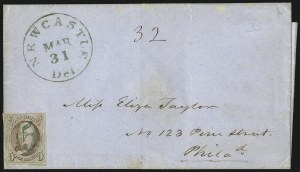 Sale Number 1041, Lot Number 112, On-Cover Domestic Uses by State: Alabama thru Delaware5c Red Brown (1), 5c Red Brown (1)