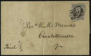 Sale Number 1041, Lot Number 114, On-Cover Domestic Uses by State: District of Columbia thru Maine5c Dark Brown (1a), 5c Dark Brown (1a)