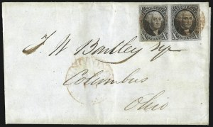 Sale Number 1041, Lot Number 115, On-Cover Domestic Uses by State: District of Columbia thru Maine10c Black (2), 10c Black (2)