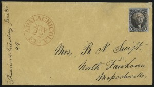 Sale Number 1041, Lot Number 117, On-Cover Domestic Uses by State: District of Columbia thru Maine10c Black (2), 10c Black (2)
