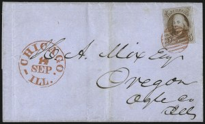 Sale Number 1041, Lot Number 118, On-Cover Domestic Uses by State: District of Columbia thru Maine5c Red Brown (1), 5c Red Brown (1)