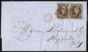 Sale Number 1041, Lot Number 119, On-Cover Domestic Uses by State: District of Columbia thru Maine5c Red Brown (1), 5c Red Brown (1)