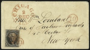 Sale Number 1041, Lot Number 120, On-Cover Domestic Uses by State: District of Columbia thru Maine10c Black (2), 10c Black (2)