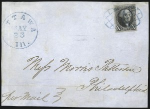 Sale Number 1041, Lot Number 122, On-Cover Domestic Uses by State: District of Columbia thru Maine10c Black (2), 10c Black (2)