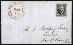 Sale Number 1041, Lot Number 124, On-Cover Domestic Uses by State: District of Columbia thru Maine10c Black (2), 10c Black (2)