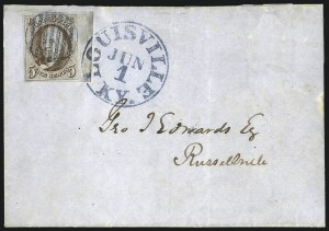 Sale Number 1041, Lot Number 125, On-Cover Domestic Uses by State: District of Columbia thru Maine5c Red Brown (1), 5c Red Brown (1)