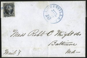 Sale Number 1041, Lot Number 126, On-Cover Domestic Uses by State: District of Columbia thru Maine10c Black (2), 10c Black (2)