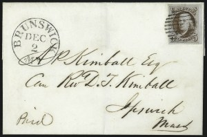 Sale Number 1041, Lot Number 127, On-Cover Domestic Uses by State: District of Columbia thru Maine5c Red Brown (1), 5c Red Brown (1)