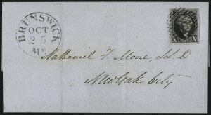 Sale Number 1041, Lot Number 128, On-Cover Domestic Uses by State: District of Columbia thru Maine10c Black (2), 10c Black (2)