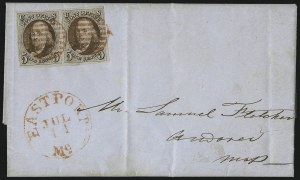 Sale Number 1041, Lot Number 129, On-Cover Domestic Uses by State: District of Columbia thru Maine5c Red Brown (1), 5c Red Brown (1)