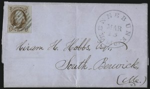 Sale Number 1041, Lot Number 130, On-Cover Domestic Uses by State: District of Columbia thru Maine5c Orange Brown (1b), 5c Orange Brown (1b)