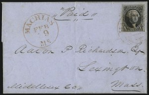 Sale Number 1041, Lot Number 131, On-Cover Domestic Uses by State: District of Columbia thru Maine10c Black (2), 10c Black (2)