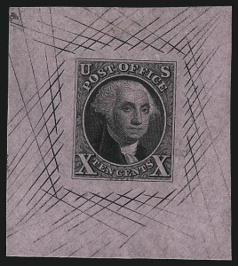Sale Number 1041, Lot Number 15, Essays and Proofs10c Black, Large Die Proof on Pink Bond (2P1b), 10c Black, Large Die Proof on Pink Bond (2P1b)