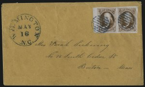 Sale Number 1041, Lot Number 175, On-Cover Domestic Uses by State: North Carolina thru Wisconsin5c Brown Orange (1d), 5c Brown Orange (1d)