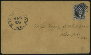 Sale Number 1041, Lot Number 176, On-Cover Domestic Uses by State: North Carolina thru Wisconsin10c Black (2), 10c Black (2)
