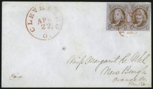 Sale Number 1041, Lot Number 177, On-Cover Domestic Uses by State: North Carolina thru Wisconsin5c Orange Brown (1b), 5c Orange Brown (1b)