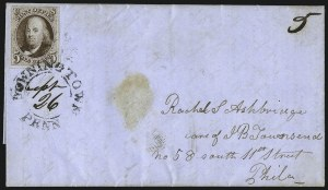 Sale Number 1041, Lot Number 178, On-Cover Domestic Uses by State: North Carolina thru Wisconsin5c Red Brown (1), 5c Red Brown (1)