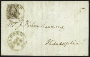 Sale Number 1041, Lot Number 179, On-Cover Domestic Uses by State: North Carolina thru Wisconsin5c Red Brown (1), 5c Red Brown (1)