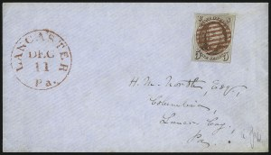 Sale Number 1041, Lot Number 180, On-Cover Domestic Uses by State: North Carolina thru Wisconsin5c Red Brown (1), 5c Red Brown (1)