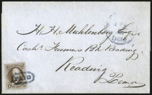 Sale Number 1041, Lot Number 181, On-Cover Domestic Uses by State: North Carolina thru Wisconsin5c Orange Brown (1b), 5c Orange Brown (1b)