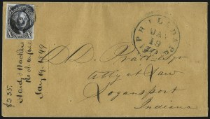 Sale Number 1041, Lot Number 184, On-Cover Domestic Uses by State: North Carolina thru Wisconsin10c Black (2), 10c Black (2)