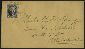 Sale Number 1041, Lot Number 185, On-Cover Domestic Uses by State: North Carolina thru Wisconsin10c Black (2), 10c Black (2)