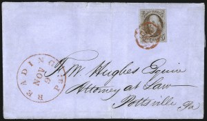 Sale Number 1041, Lot Number 186, On-Cover Domestic Uses by State: North Carolina thru Wisconsin5c Red Brown (1), 5c Red Brown (1)