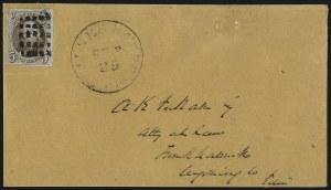 Sale Number 1041, Lot Number 187, On-Cover Domestic Uses by State: North Carolina thru Wisconsin5c Red Brown (1), 5c Red Brown (1)